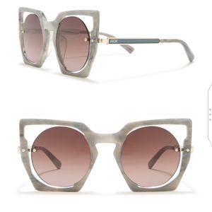 🕶️*MCM* 48mm Geometric Sunglasses White Marble